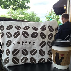 @seasaltprinting Coffee tote out getting coffee!