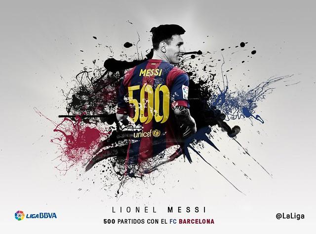 Lionel Messi: 500 partidos con el FC Barcelona