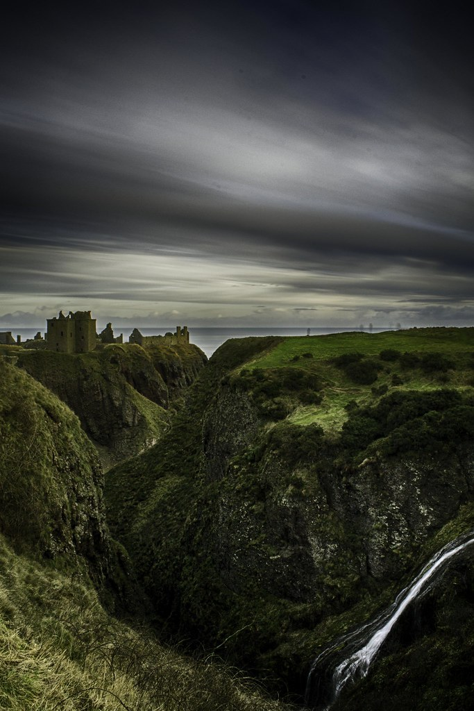Ghosts looking to Dunnottar Castle