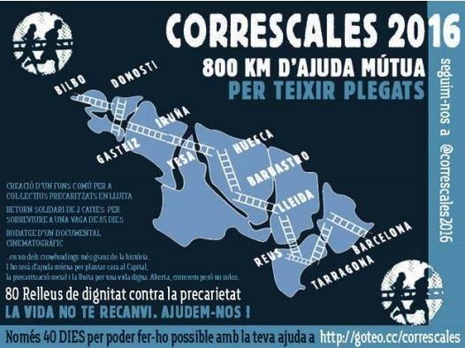 #correscales 800 quilometres d´ajuda mútua