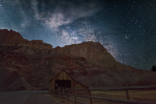 park cloud moon mountain storm rock night barn way star utah nationalpark ut nps capitol galaxy national astrophotography capitolreef reef nationalparkservice milky capitolreefnationalpark fruita milkyway milkywaygalaxy