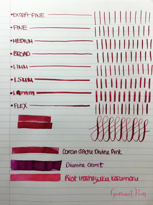 Ink Shot Review Caran d'Ache Divine Pink @BureauDirect (5)