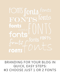 Not Dressed As Lamb | Branding For Your Blog in Quick, Easy Steps #3 Choose Just 1 (or 2) Fonts