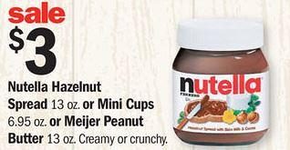 Nutella Hazelnut Spread at Meijer