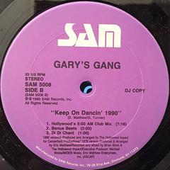 GARY'S GANG:KEEP ON DANCIN' 1990(LABEL SIDE-B)