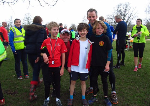 PBs all round for Jasper, Oscar and Ben with Hayden & Andy supporting them!
