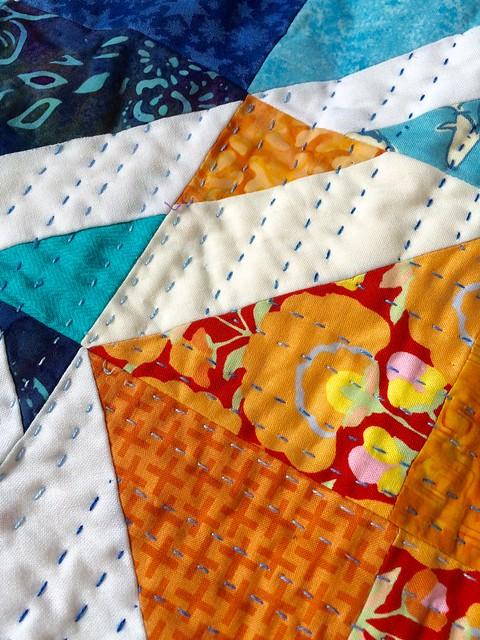 Improvisational baby quilt