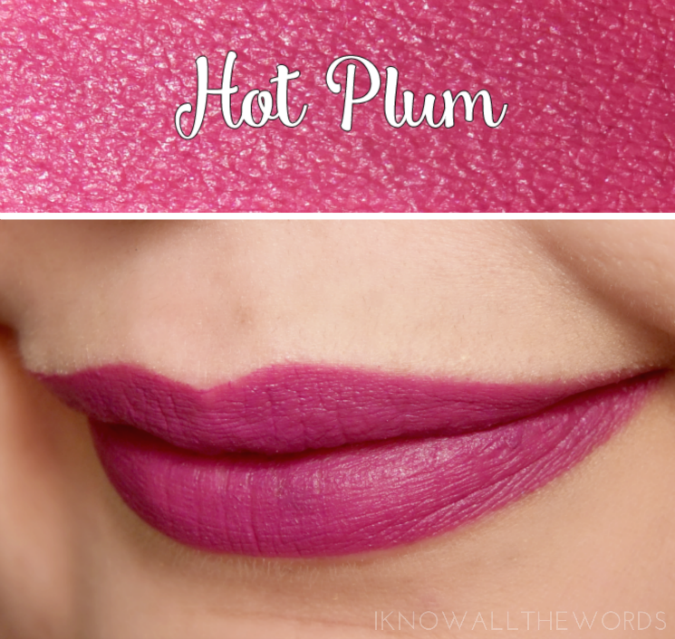 Avon True Colour Perfectly Matte Lipstick Hot Plum