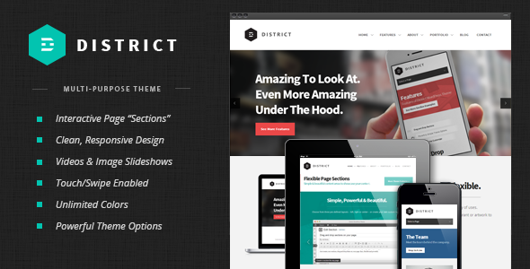 ThemeForest District v1.3.3 - Responsive Multi-Purpose Theme