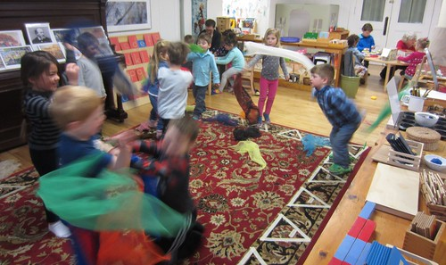 indoor recess scarf dancing