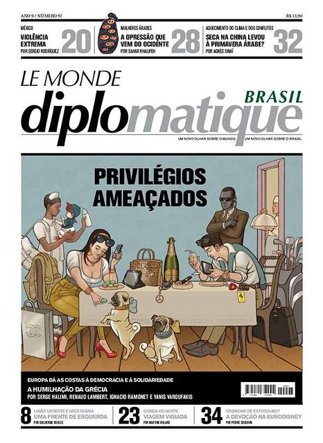 Paródia dO Jantar, de Jean-Baptiste Debret, feita pelo Le Monde Diplomatique Brasil