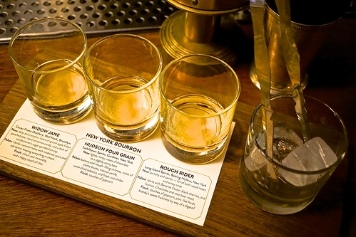 The Fillmore whiskey flights