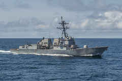 In this file photo, USS Chung-Hoon (DDG 93) transits through waters of the South China Sea in March. (U.S. Navy/MC3 David Flewellyn)