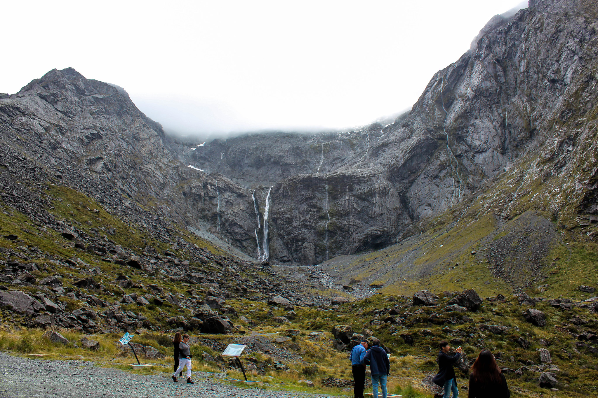 just before Homer Tunnel (drive from Queenstown to Milford Sound)