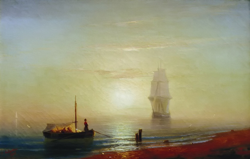 The sunset on sea by Ivan Aivazovsky, 1848