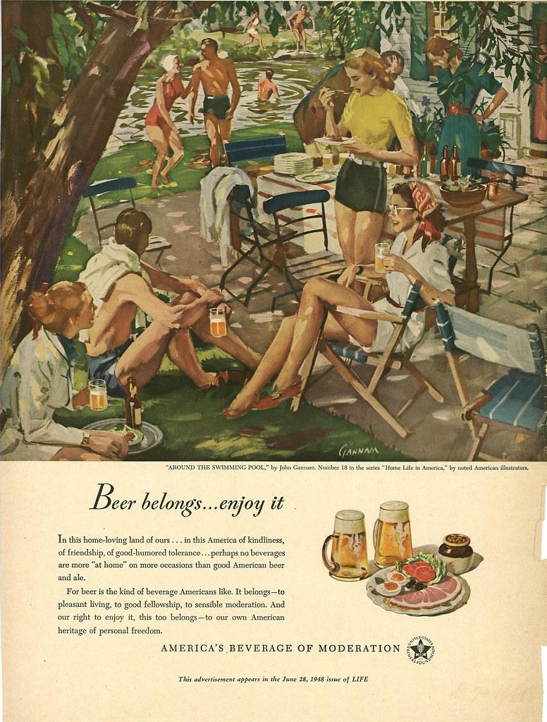 018. Around the Swimming Pool by John Gannam, 1948