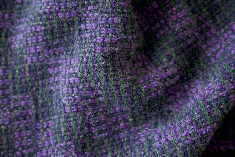 Harrisville wool scarf, crackle weave.