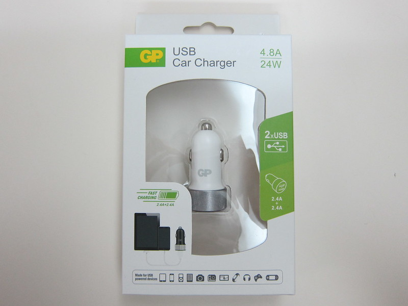 GP USB Car Charger - Box Front