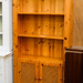 Tall natural pine lattice 2 door dresser