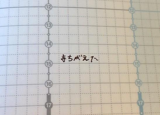 モノノート ジブン手帳ミス