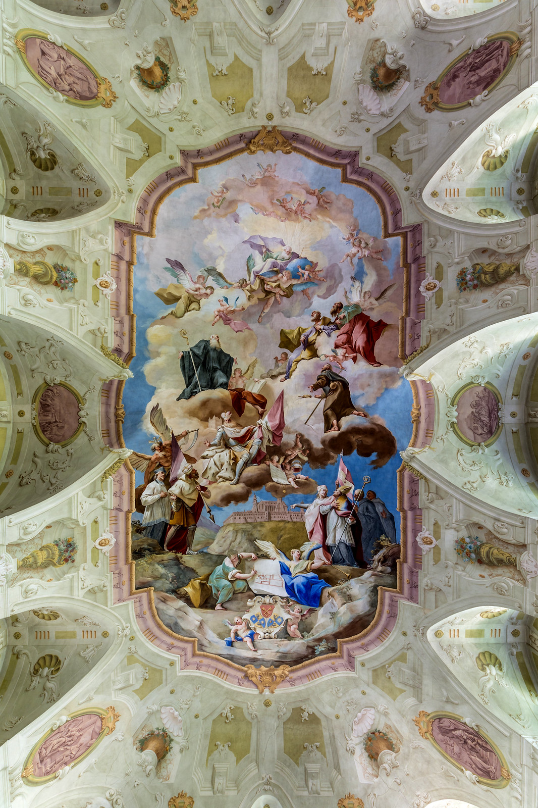 Symbolic illustration of the history of Melk Abbey, 1745. Credit Uoaei1