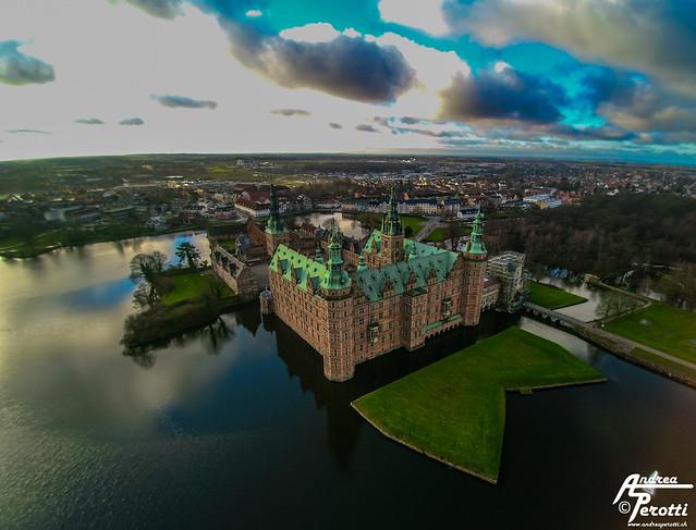 Frederiksborg Castle from above - Hillerød, Copenhagen 13.12.2015
