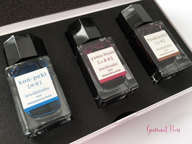 Ink Shot Pilot Iroshizuku Mini Boxed Set - Kon-Peki, Tsukushi & Yama-Budo (20)