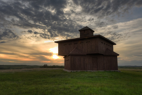 statepark sunset west nikon unitedstates northdakota d750 mandan hdr frontier custer 2470mm photomatix fortlincoln fortmckeen