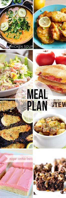 Week 30. Collaborative weekly meal planning. 9 bloggers. 6 dinner ideas, one-weekend breakfast plus 2 desserts every single week equals one heck of a delicious menu!