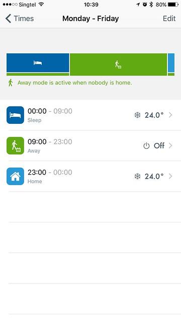 tado iOS App - Smart Scheduling