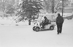 Snow taxi...