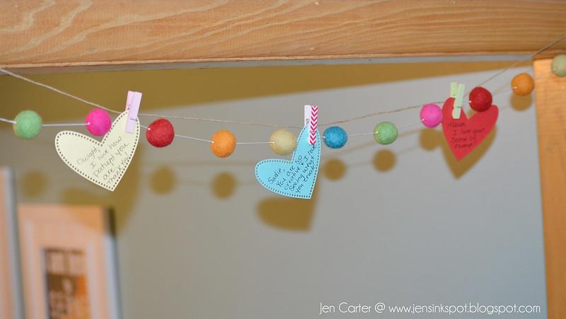 Jen Carter Heart Banner Hanging Hearts Closeup 1