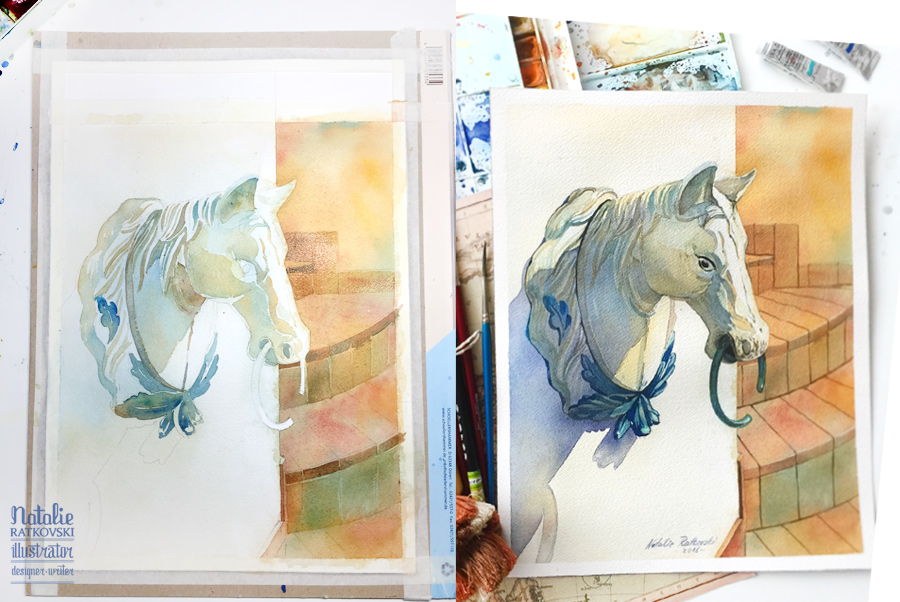 Natalie Ratkovski's watercolors
