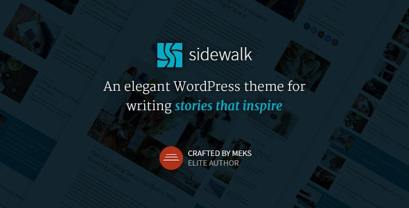 ThemeForest Sidewalk v1.1 - Elegant Personal Blog WordPress Theme
