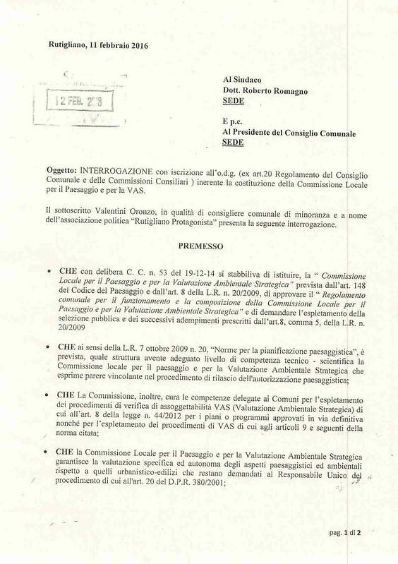 interrogazione commissione vas-1