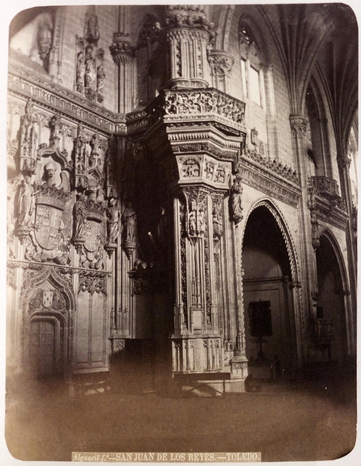 San Juan de los Reyes en Toledo hacia 1879. Álbum de la National Gallery con fotos de Casiano Alguacil.
