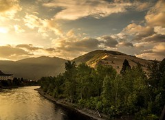 Just got word that some video work I did with @visitmissoula is going live soon on @matadornetwork ... Stay tuned!   Here's a ridiculous sunrise over Mt. Sentinel and the Clark Fork in the last morning of the shoot...forest fire skies finally cleared to
