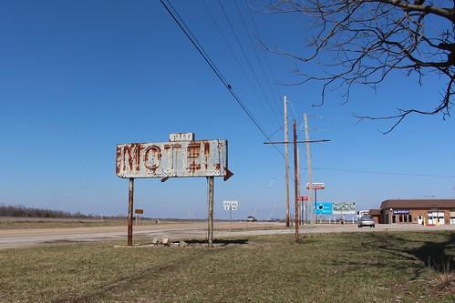 sorry sign vintage illinois neon motel stclaircountyil il159 il159il156
