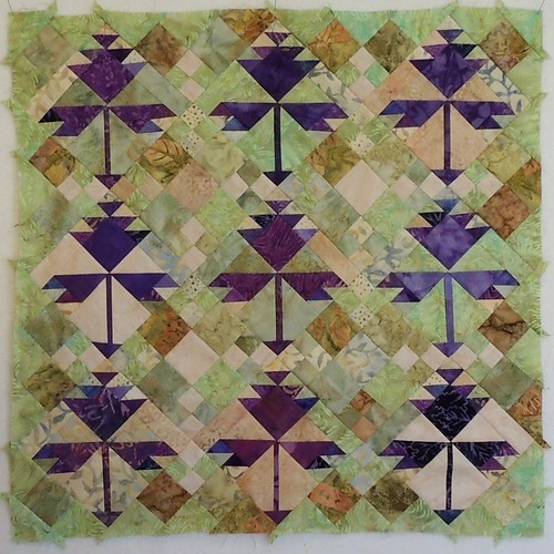 Clover Blossom Mini-Quilt in Progress