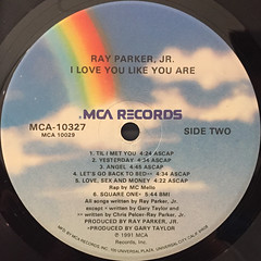 RAY PARKER JR.:I LOVE YOU LIKE YOU ARE(LABEL SIDE-B)