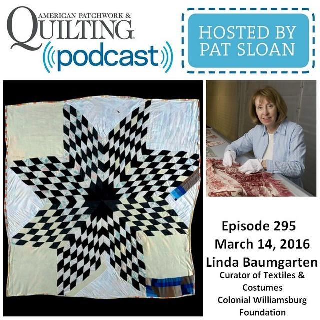 American Patchwork Quilting Pocast episode 295 Linda Baumgarten