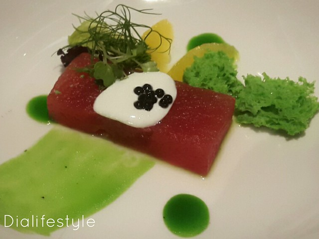 Salad of Compressed Watermelon
