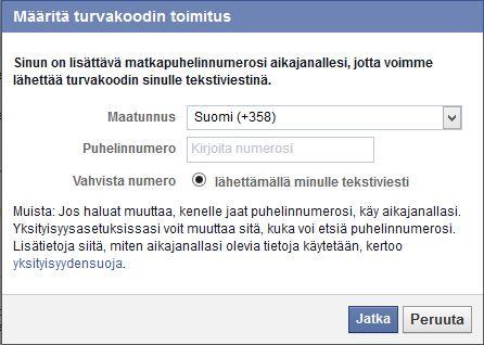 Facebook tietoturvan parantaminen
