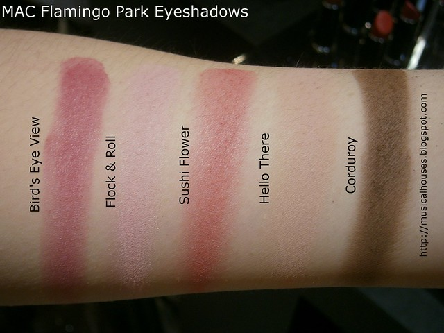 MAC Flamingo Park Swatches Eyeshadows