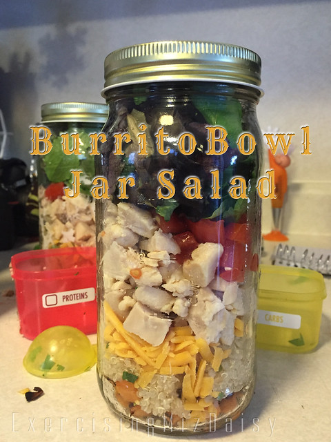 burrito bowl jar salad