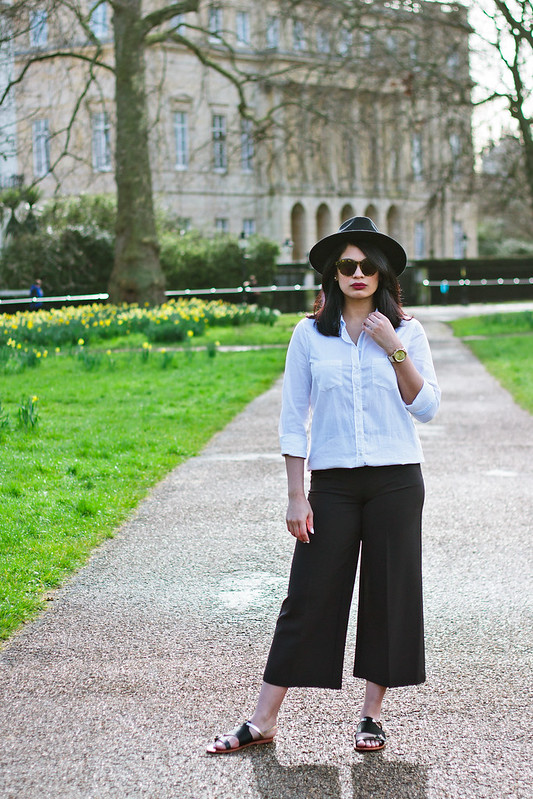 {3 ways to style culottes} via chevrons & éclairs