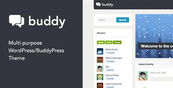 Buddy v2.9.1 - Multi-Purpose WordPress/BuddyPress Theme