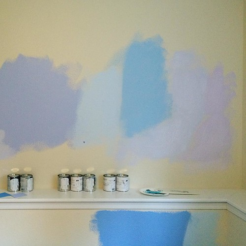 Trying to sort out the color of the guest room next and the indecision is strong. Looks like a unicorn threw up in here!