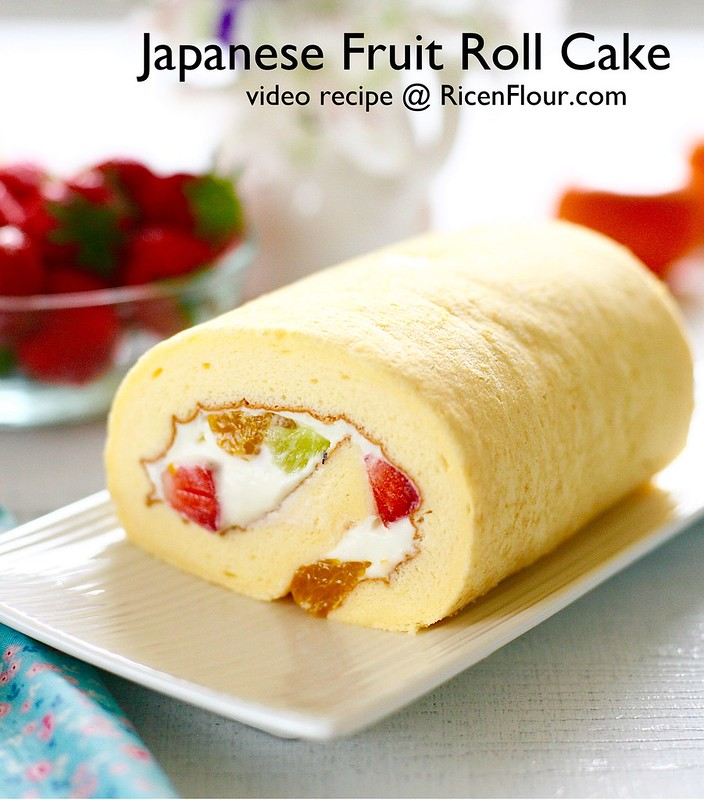 Fruit Sponge Cake Roll