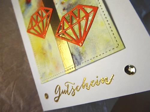 Bastelstunde - Eine Karte für ihn - Diamanten